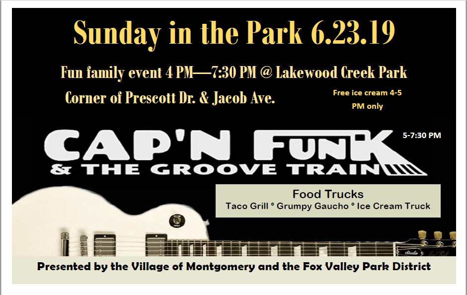 Sunday in the Park flyer 2019
